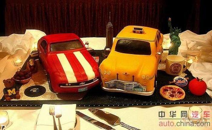 Авто-торты (22 фото)