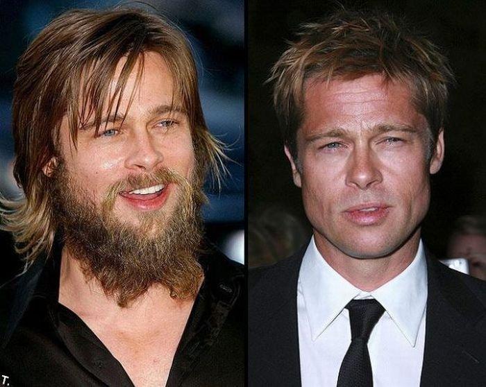 Звезды с бородами и без (12 фото)