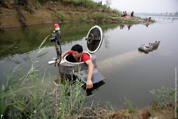 Самодельная подводная лодка (4 фото)
