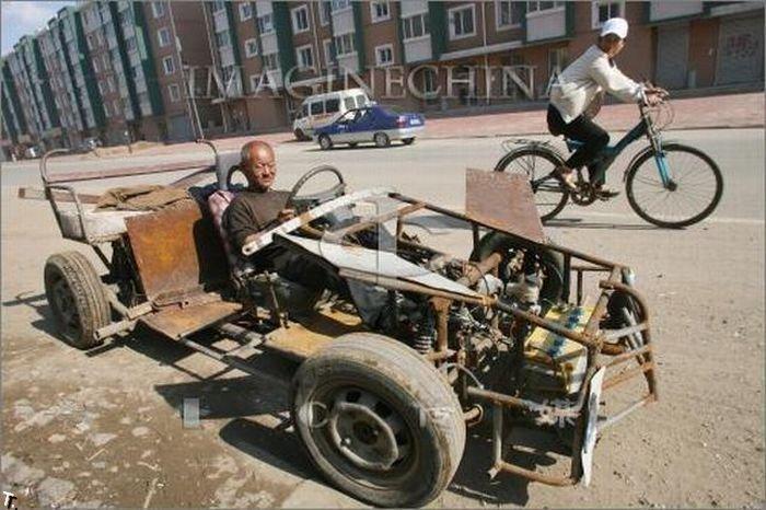 Самодельные китайские автомобили (35 фото)