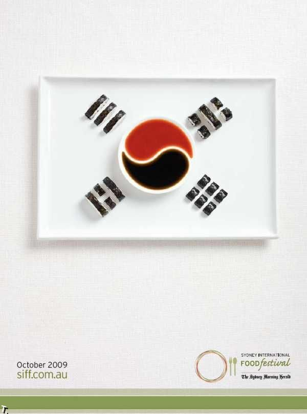 Флаги из еды (12 фото)