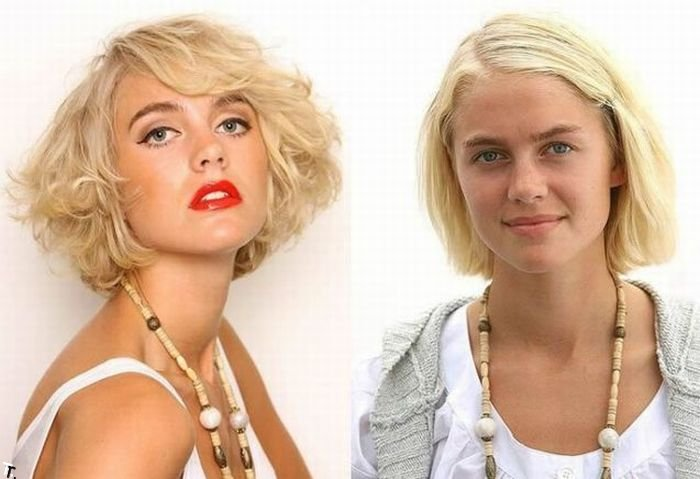 Девушки до и после макияжа (8 девушек, 16 фото)