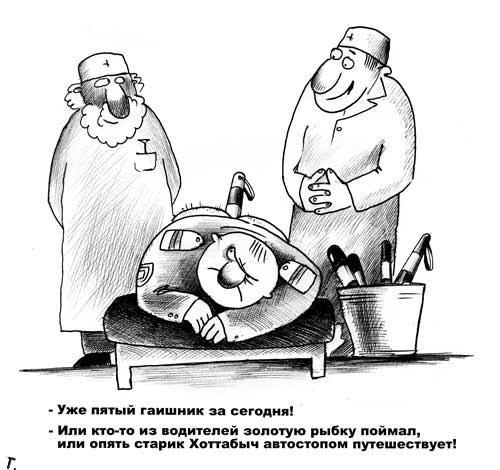 Смешные карикатуры про ДПС (56 картинок)