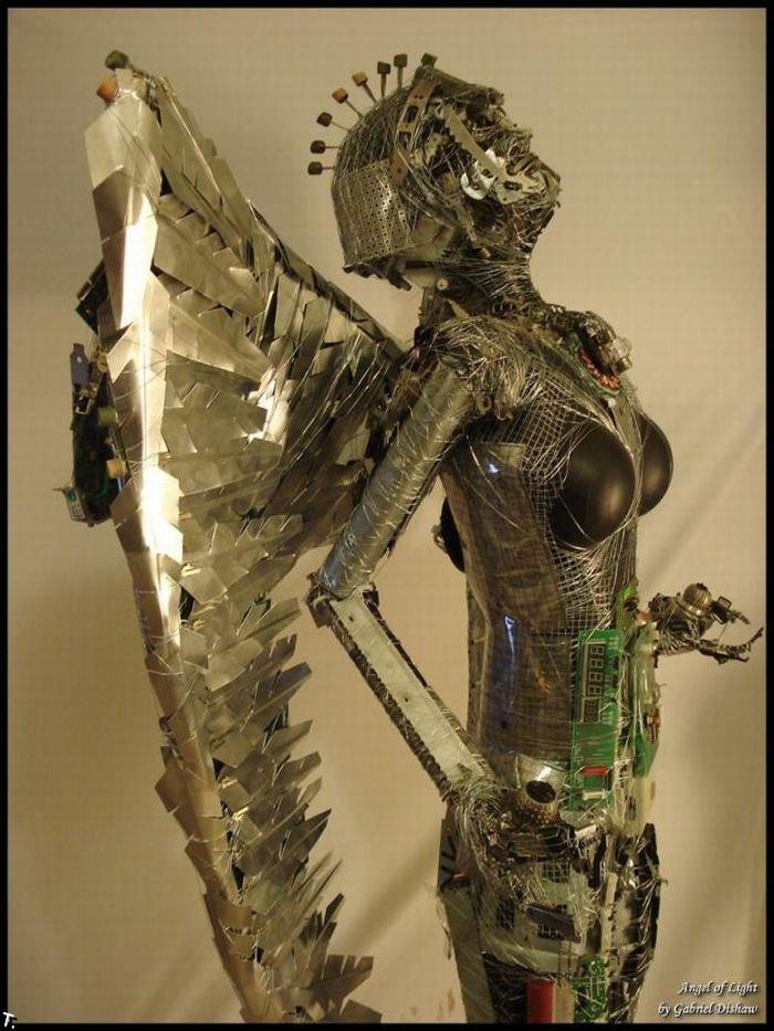 Мусорные скульптуры (50 фото)