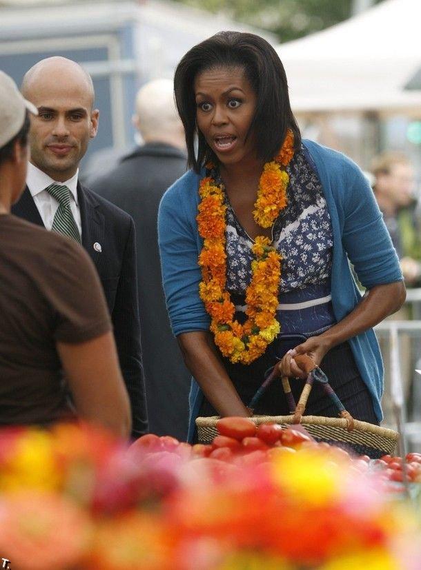 Мишель Обама на рынке (10 фото)