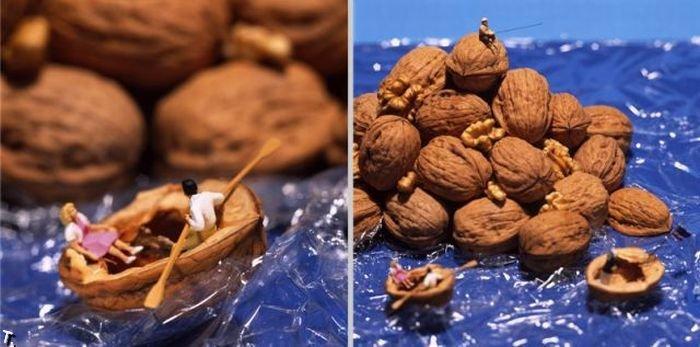 Маленькие люди и еда (39 фото)