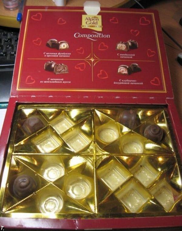 Шоколадные конфеты с «сюрпризом» (7 фото)