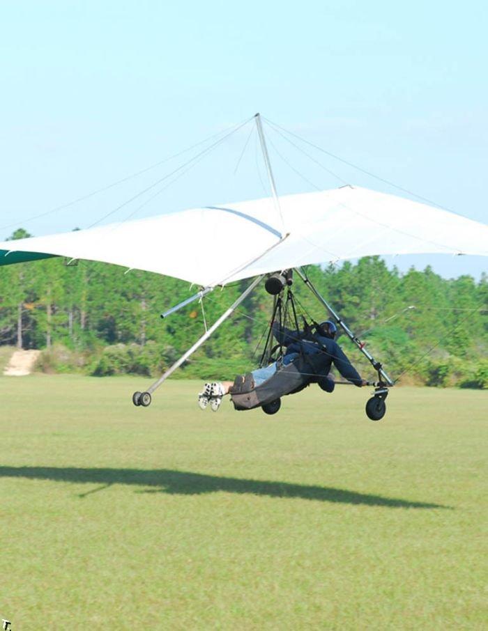Голая девушка летает на параплане (15 фото) НЮ