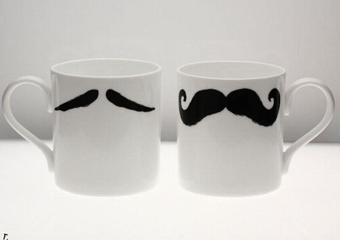 Чашки с усиками (6 фото)