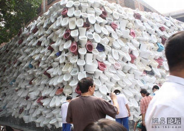 Великая китайская туалетная стена (20 фото)