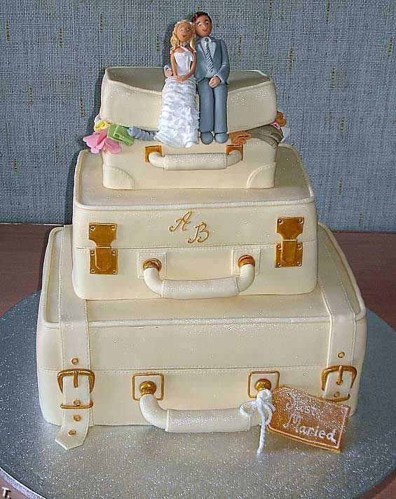 Потрясающие свадебные торты (35 фото)