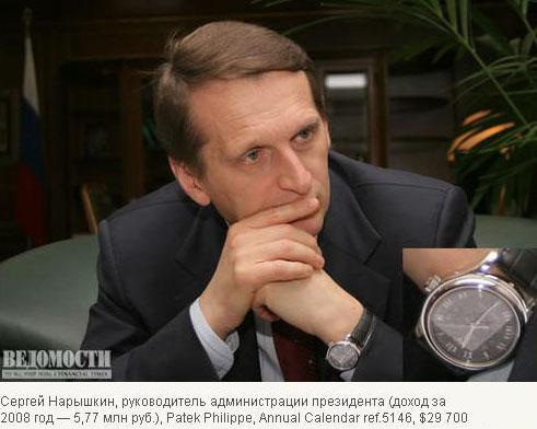 Часы российских чиновников (32 фото)