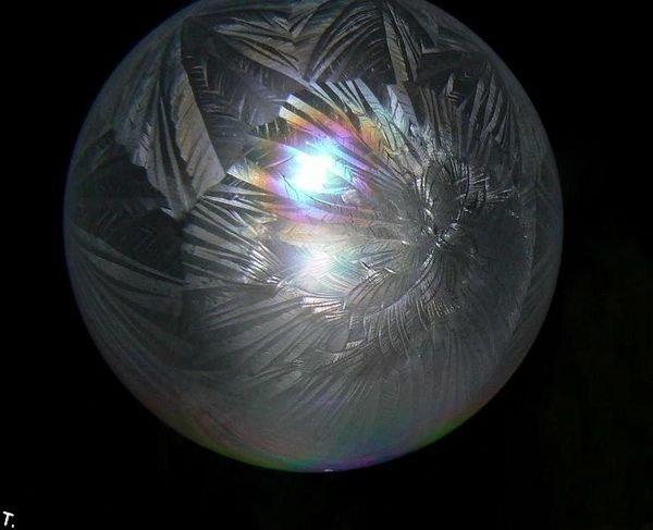 Как сделать замороженный мыльный пузырь (7 фото)