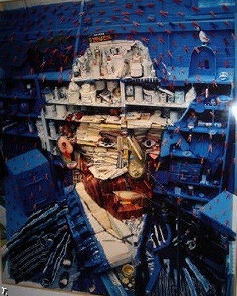 Мусорные портреты Бернарда Праса (21 фото)