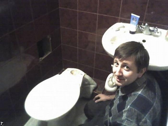 Человек без головы! (2 фото)