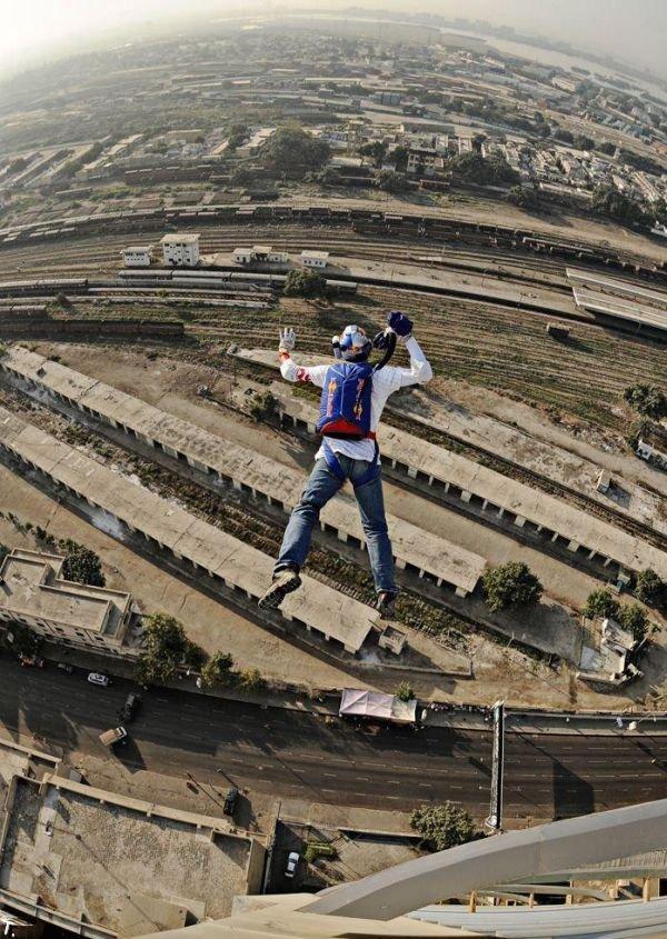 Неудачный прыжок (3 фото)