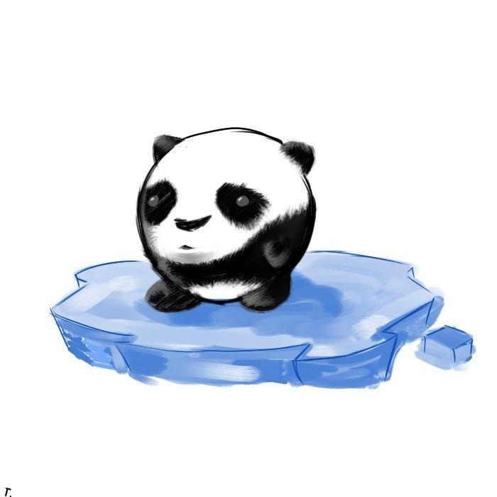 Картинки для, панды прикольные рисунки