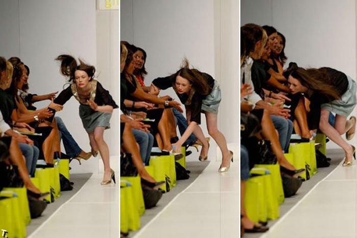 Падения на подиуме (11 фото)