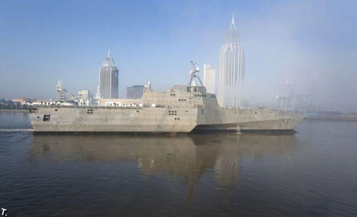 Американский боевой корабль USS Independence (LCS-2) (6 фото)