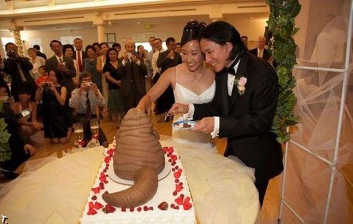 Забавные свадебные фотографии.