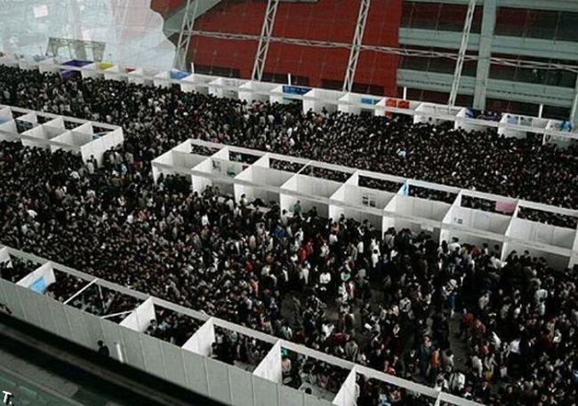 Центр занятости в Китае (9 фото)