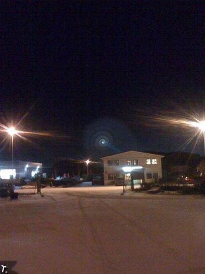 Странная спираль над Норвегией (34 фото + видео)