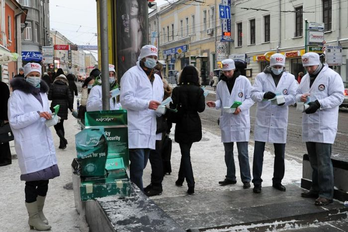 Очень позитивная акция в Москве (19 фото + видео)