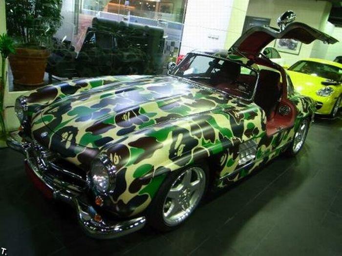 Камуфляжные машины (13 фото)