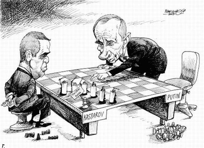 Иностранные карикатуры на Путина (19 картинок)