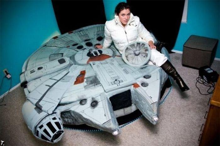 Кровать фанатки звездных воин (19 фото)