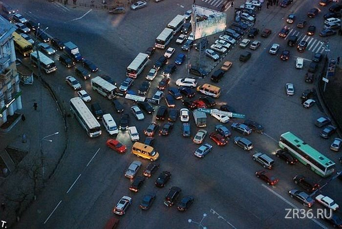 Как начинаются пробки (7 фото)