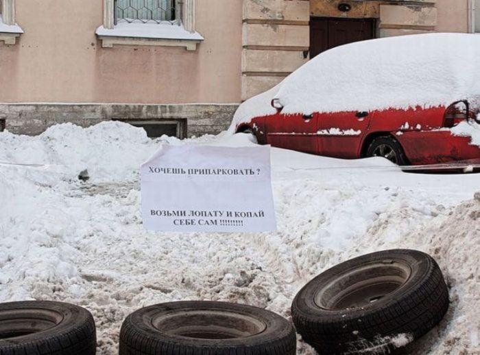 Снегопад в Питере (2 фото + 2 видео)