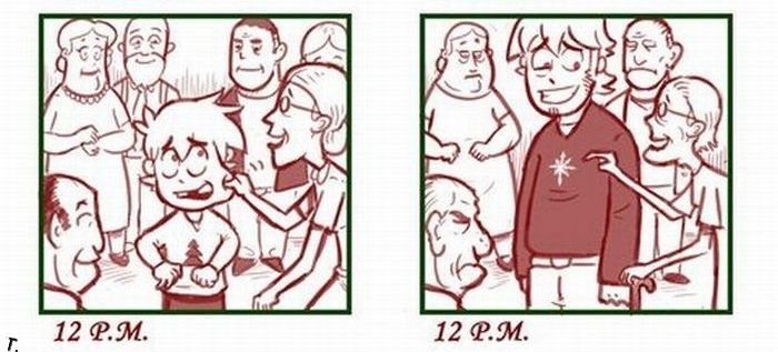Новый год. Тогда и сейчас (7 картинок)