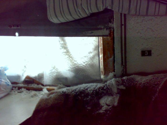 Украинский поезд (3 фото)