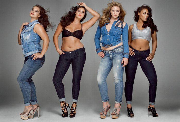 Фотосессия полных моделей для журнала V (9 фото)