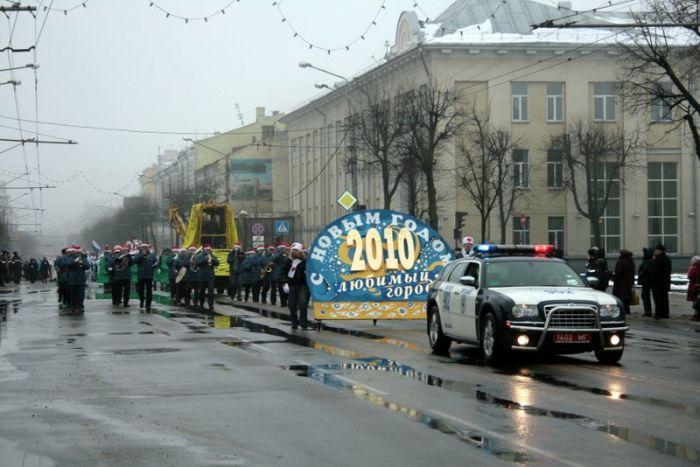 Новогодний парад в Минске (5 фото)