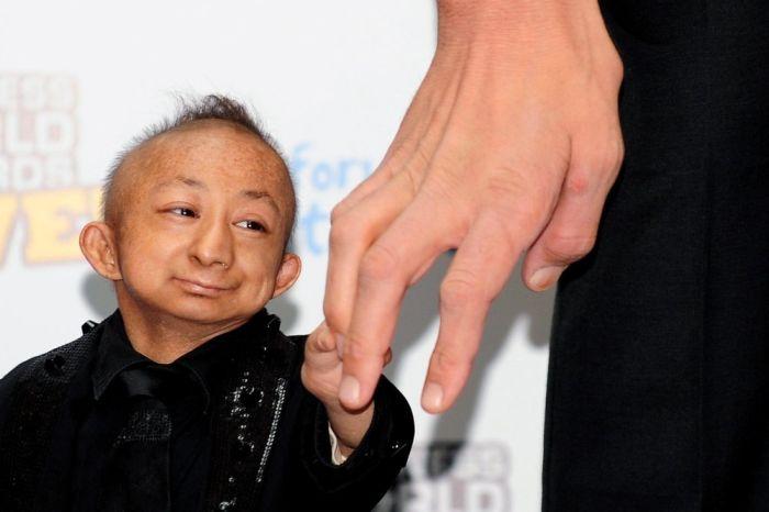 Самый маленький человек в мире китаец Хи Пингпинг (He Pingping...