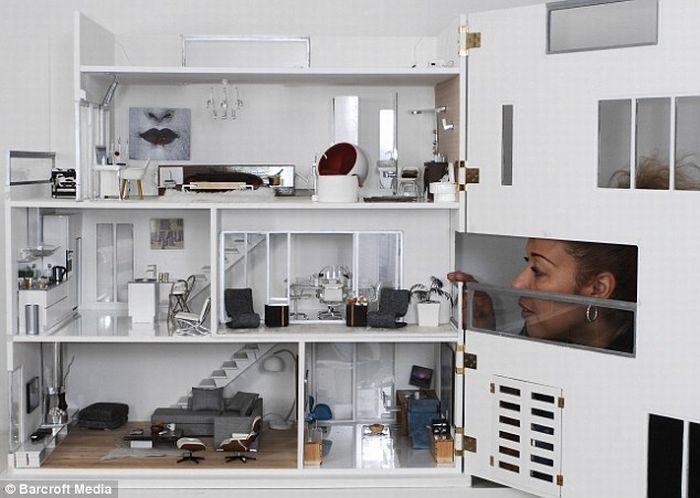 Шикарный кукольный дом (7 фото)