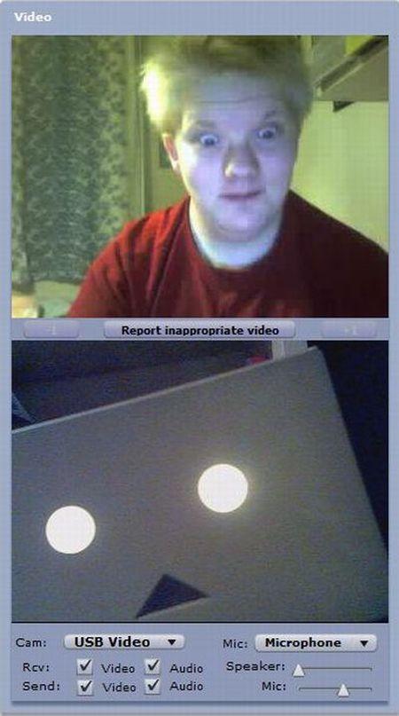 Смешные и странные лица снятые на веб камеру (29 фото)
