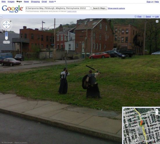 Приколы с Google Street View (19 фото)