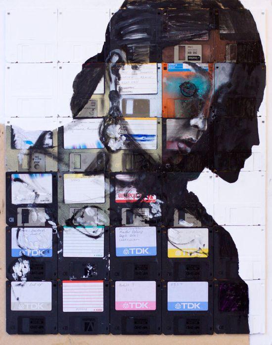 Картины из дискет (33 фото)