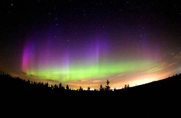 Удивительное северное сияние (96 фото)