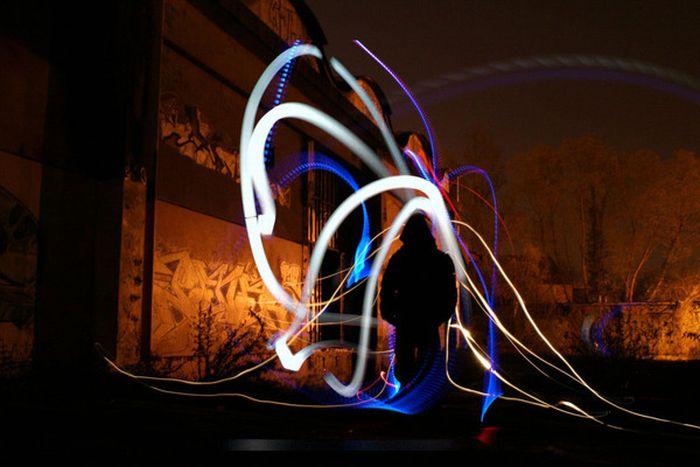 Рисунки светом (58 фото)