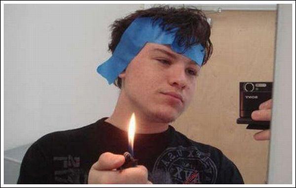 Как побриться зажигалкой (20 фото)