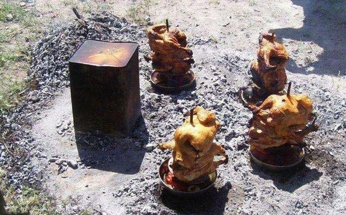 Как испечь курицу без духовки (15 фото)