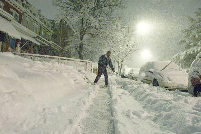Вашингтон в снегу (27 фото)