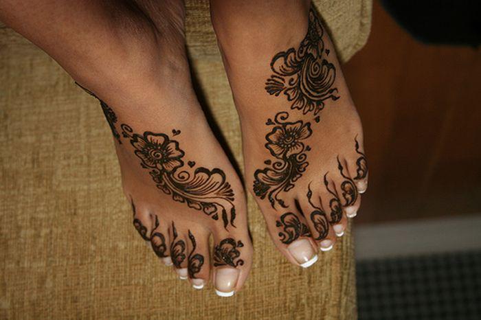 可以洗去的指甲花纹身艺术