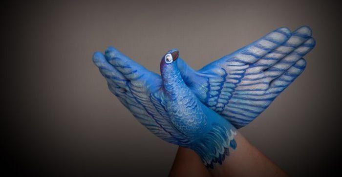 Люди и птицы (8 фото)