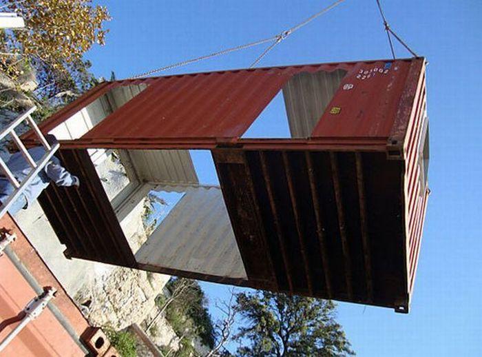 Дом из котейнера (15 фото)
