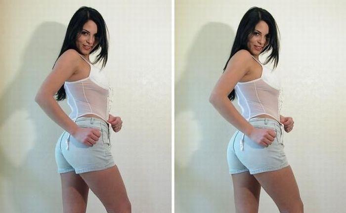 Стереоскопическая девушка (10 фото)